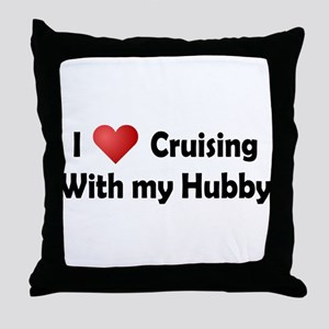 Cruising with my Hubby Throw Pillow